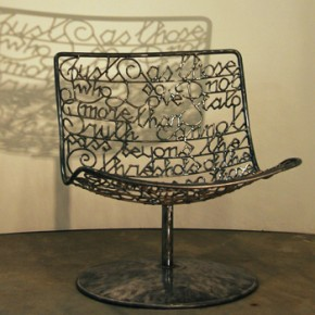 Wire chair 'Oscar Wilde'