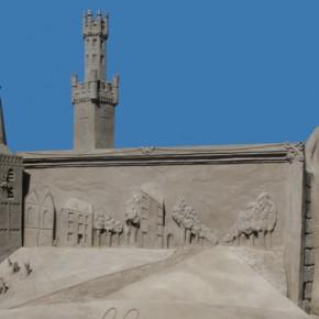 Zandsculptuur Kasteel de Schaffelaar