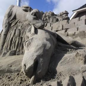 Zandsculptuur Jachttafereel Prins Hendrik
