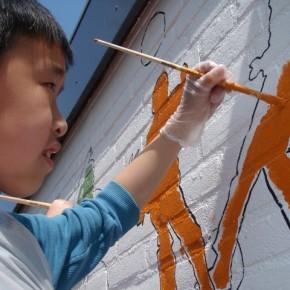 Muurschildering basisschool De Schans