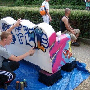 graffiti bankje08