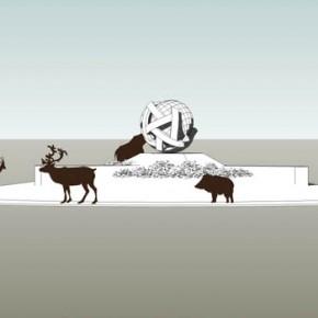 Ontwerp rotondekunstwerk 'Gaia'