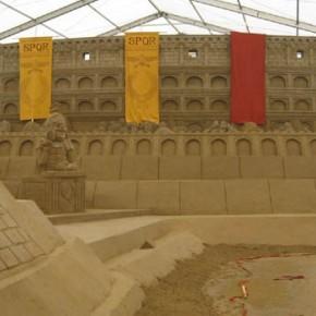 Zandsculptuur 'Colosseum'