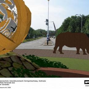 zicht vanaf kunstwerk richting zuiden Dentgenbachweg copy